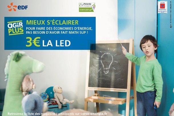 des ampoules led 3 euros pour r duire sa consommation d 39 lectricit en corse alta frequenza. Black Bedroom Furniture Sets. Home Design Ideas