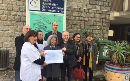 La Ligue contre le Cancer de Corse-du-Sud a remis un...