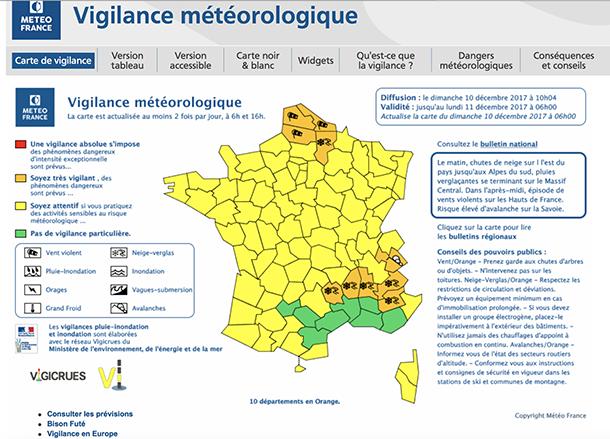 La Vendée placée en vigilance jaune